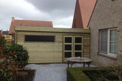 Aanbouw tuinhuis - JD Houtconstruct