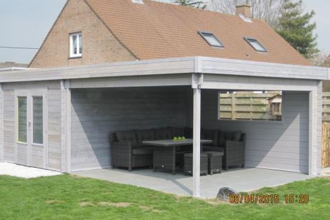 Tuinhuis met binnenplaats - JD houtconstruct